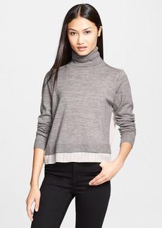 Tibi Mixed Media Turtleneck Sweater