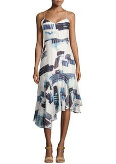 Tibi Oki Drop-Waist Asymmetric Dress