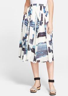 Tibi 'Oki' Silk Blend Origami Skirt