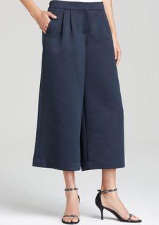 Tibi Pants - Pleated Satin Culottes