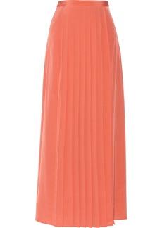 Tibi Pleated silk maxi skirt