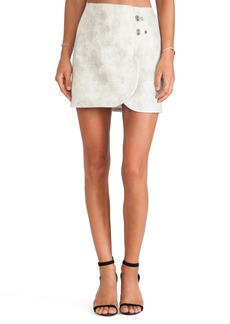 Tibi Pony Hair Skirt in Ivory