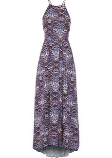 Tibi Printed crepe maxi dress