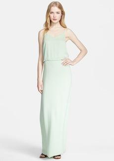 Tibi Racerback Woven Maxi Dress