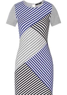 Tibi Racetrack striped stretch-jersey dress