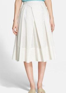 Tibi 'Riko' Eyelet Origami Skirt