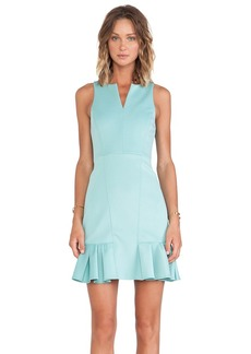 Tibi Rime Split Neck Sleeveless Dress in Mint
