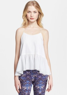 Tibi Ruffle Silk Camisole