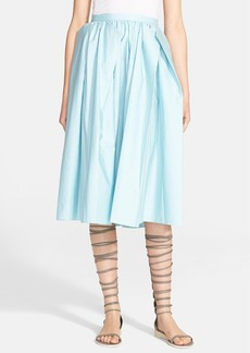 Tibi Satin Poplin Origami Skirt