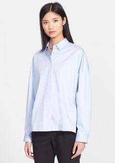 Tibi Satin Poplin Oversize Shirt