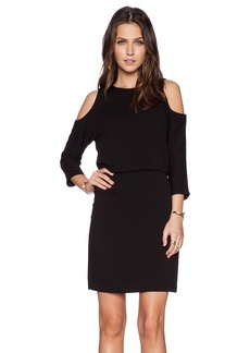 Tibi Savanna Cut Out Shoulder Dress