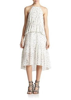 Tibi Shibori Dotted Popover Dress
