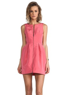 Tibi Silk Faille Sleeveless Dress in Pink