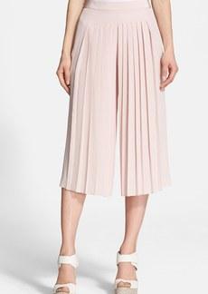 Tibi 'Simone' Pleated Silk Culottes