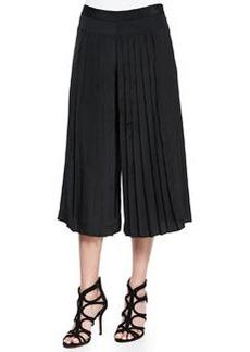 Tibi Simone Silk Pleated Culottes