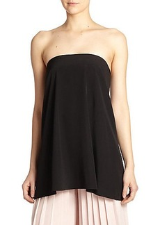 Tibi Simone Silk Strapless Top