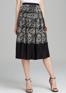 Tibi Skirt - Embroidered Cutout Eyelet