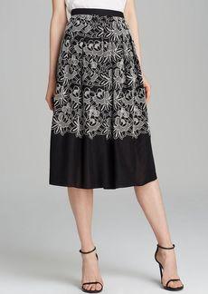 Tibi Skirt - Embroidered Cutout Eyelet