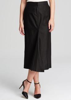 Tibi Skirt - Nori Pearlized Linen