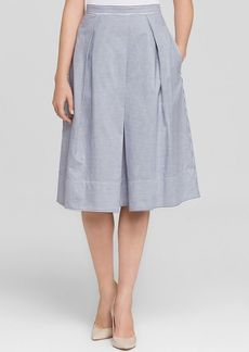 Tibi Skirt - Stripe Shirting