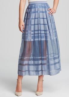 Tibi Skirt - Striped Organza