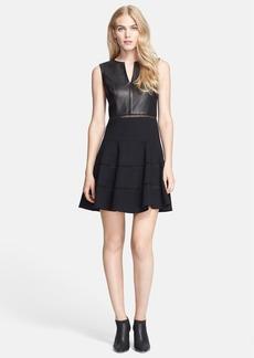 Tibi Sleeveless Leather Dress