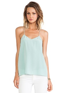 Tibi Solid Silk Cami in Mint