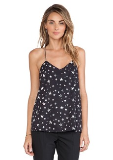 Tibi Star Field Cami in Black