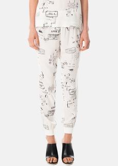 Tibi 'Stencil Pajama' Print Silk Jogging Pants