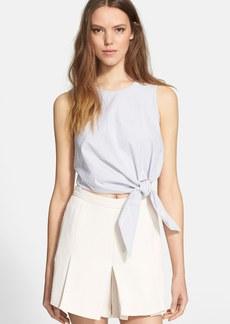 Tibi Stripe Cotton Crop Top