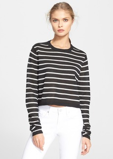 Tibi Stripe Crop Sweater
