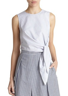 Tibi Stripe Cropped Top