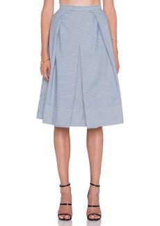 Tibi Stripe Shirting Skirt