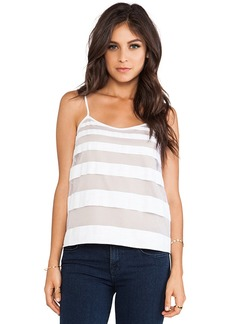 Tibi Striped Jacquard Tank in White