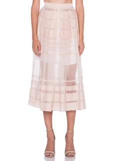 Tibi Striped Organza Skirt