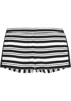 Tibi Striped woven shorts