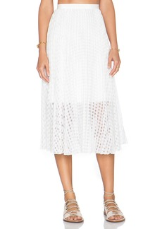 Tibi Sunray Pleated Skirt