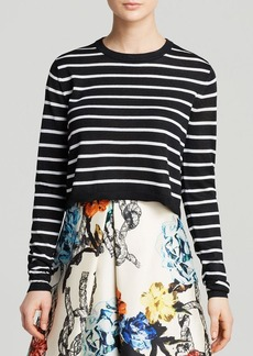 Tibi Sweater - Nautical Striped Cropped