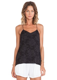 Tibi Tapestry Print Cami in Black