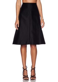 Tibi Techno Faille A-Line Skirt