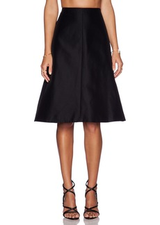 Tibi Techno Faille A-Line Skirt