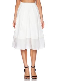 Tibi Techno Faille Pleated Skirt
