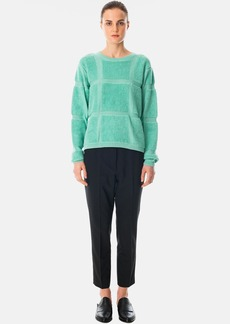 Tibi Terry Grid Sweater