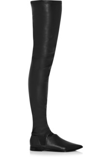Tibi Thea two-piece over-the-knee leather boots