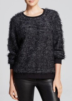 Tibi Top - Furry Tweed