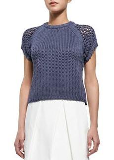 Tibi Tube Yarn Muscle Sweatshirt