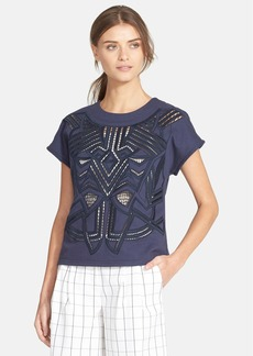 Tibi 'Tumi' Needlework Embellished Top