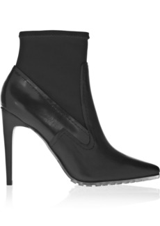Tibi Vera leather and neoprene ankle boots