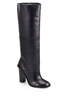 Tibi Vlada Leather Knee-High Boots