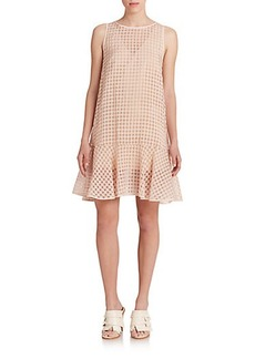 Tibi Windowpane Check Dress